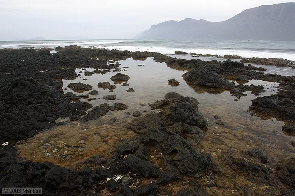 Lanzarote Dunas en la playa de Famara Canarias
