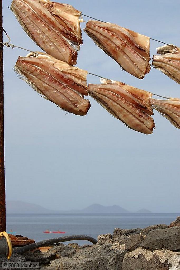 Lanzarote Pinzas para colgar el pescado Canarias