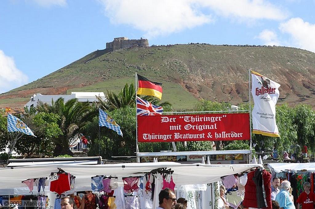 Lanzarote Mercadillo de Teguise Canarias