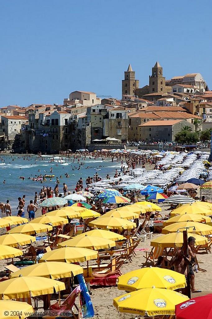 Cefalu Playa de Cefalu Sicilia