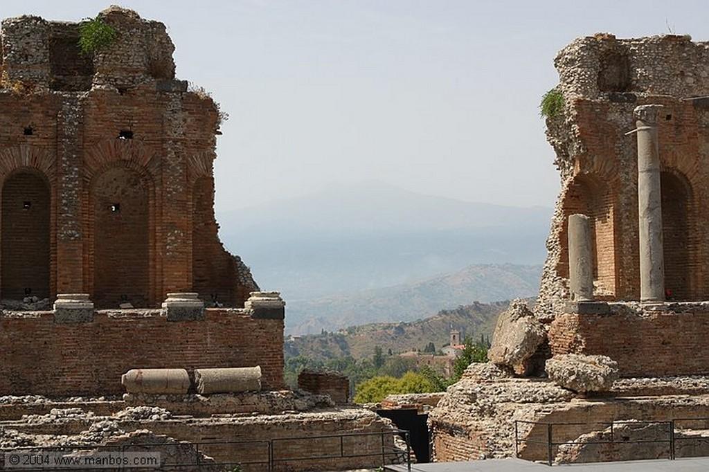Foto de Taormina, Teatro griego, Sicilia, Italia - Teatro Griego