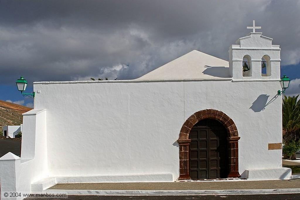 Lanzarote Campanario de la Ermita de San Marcial del Rubicon Canarias