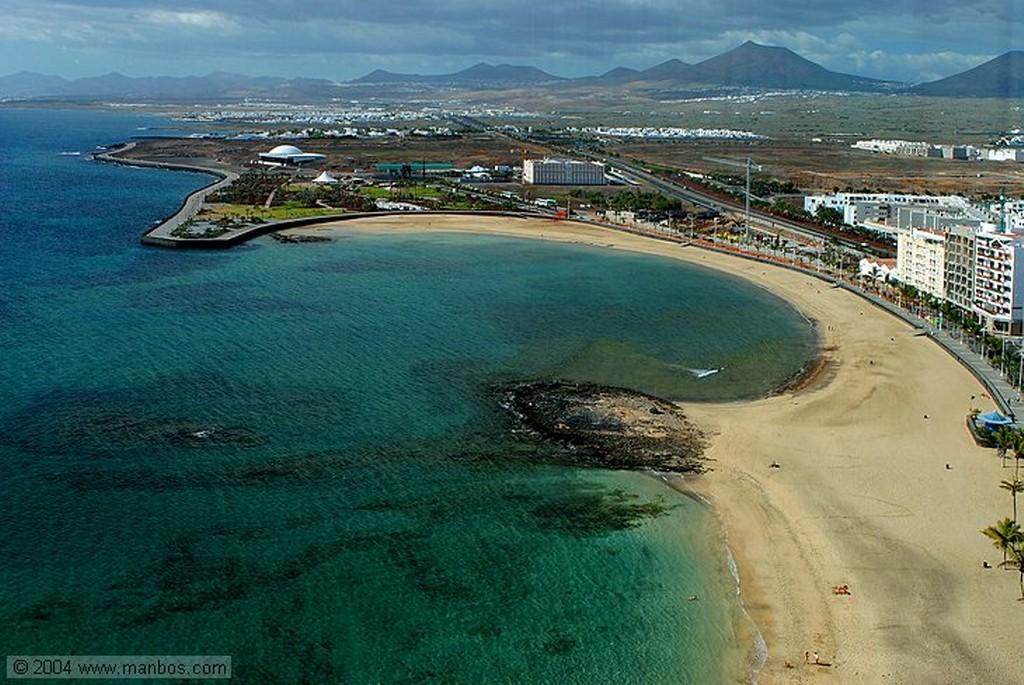 Lanzarote Vista desde el Gran Hotel Arrecife Canarias