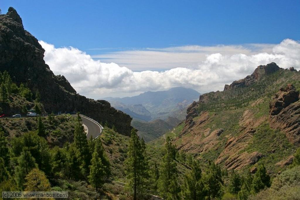 Gran Canaria Subida hacia el Roque Canarias