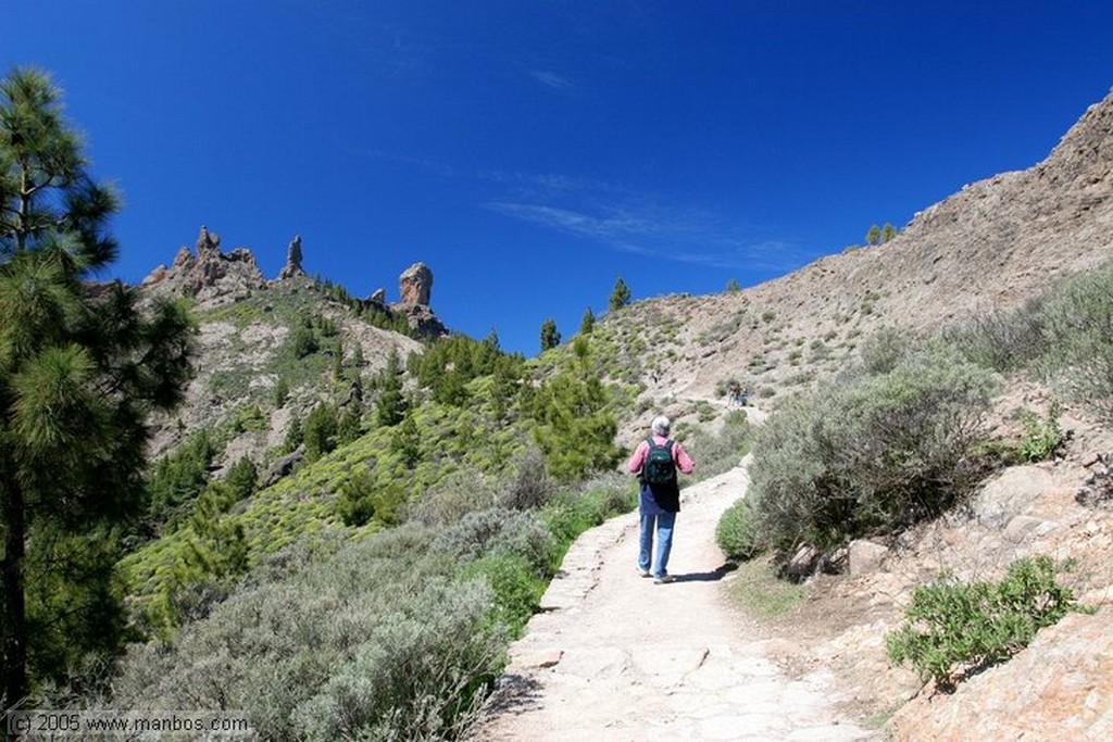 Gran Canaria Vista del Teide desde Roque Nublo Canarias