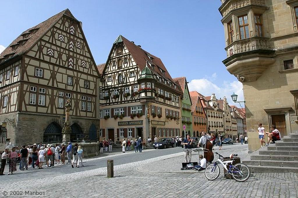 Rotemburgo Plaza del Ayuntamiento Baviera