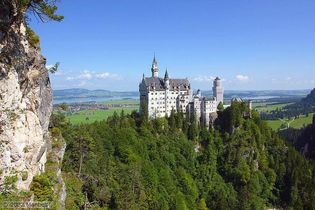 Castillo de Luis II Vista desde el Castillo de Luis II Baviera