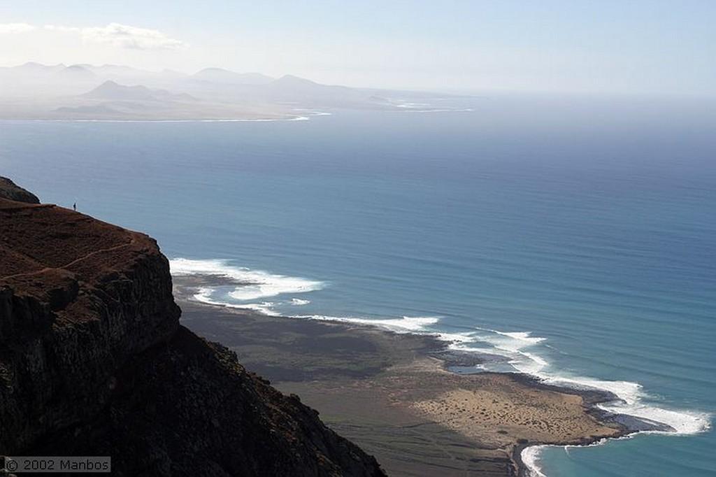 Lanzarote Mirador del Río - La Graciosa y Alegranza al fondo Canarias
