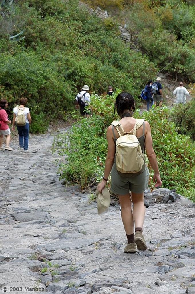 Tenerife Camino principal de las pirámides Canarias