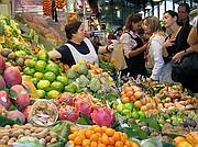 Mercado de La Boqueria, Barcelona, España