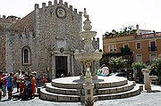 Piazza Duomo, Taormina, Italia