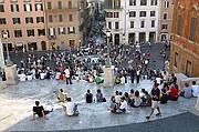 Piazza di Spagna, Roma, Italia