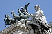 Piazza Venezia, Roma, Italia