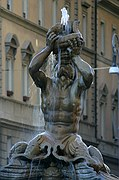 Fontana di Tritone, Roma, Italia