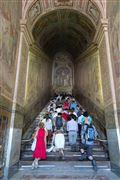 Photo of Rome, Scala Sancta, Italy - Penitentes subiendo la Escalera Santa