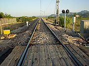 Camara Sony Cybershot F55 Paso a nivel del Tren Valencia-Gandía El Brosquil EL BROSQUIL Foto: 196