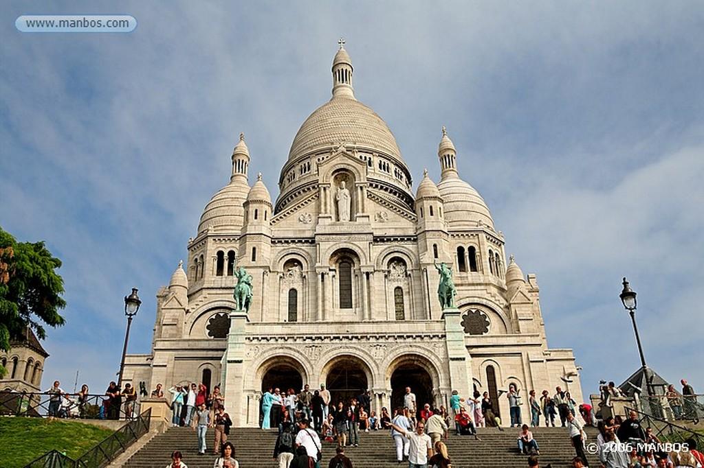 Paris Fachada principal del Sacre-Coeur Paris