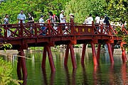 Foto de Hanoi, Lago de la Espada Restituida, Vietnam - Pasillo Khanh Thuy
