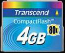 Tarjeta CompactFlash 4GB 80X