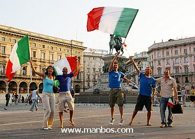 Celebrando el mundial , Plaza principal de Milán