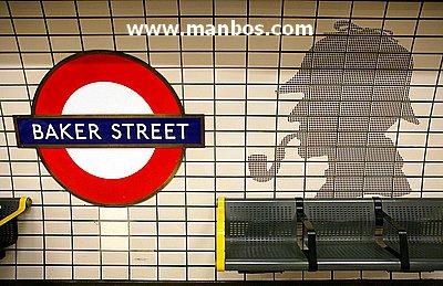 Estacion de Metro Baker Street,  Londres