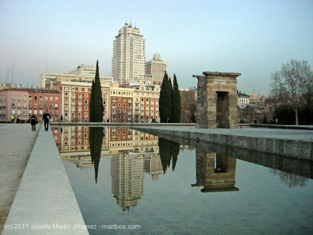 Madrid Atardecer templo de debod Madrid