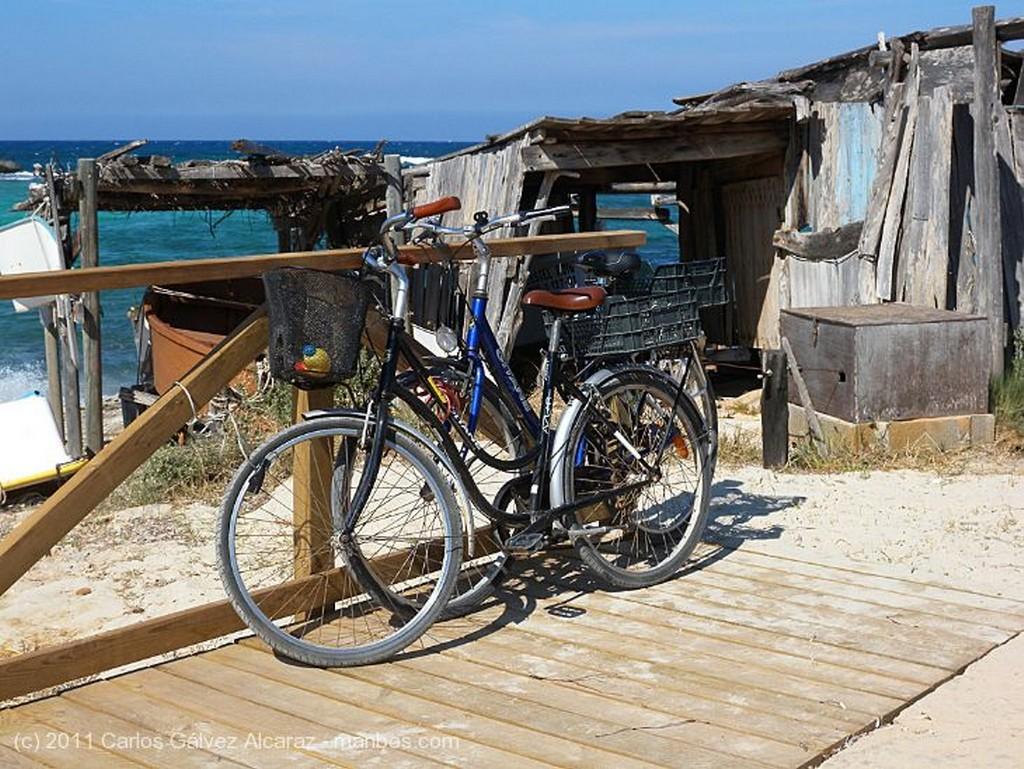 Formentera Faenando en la playa. Islas Baleares
