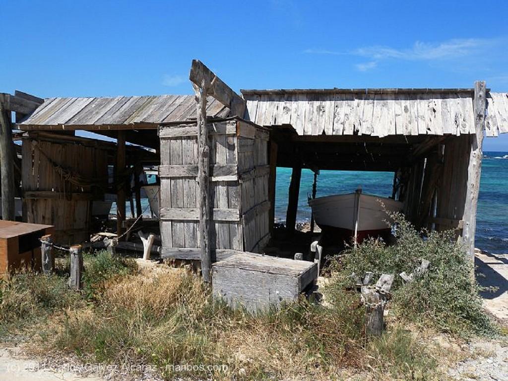 Formentera Embarcadero abandonado. Islas Baleares