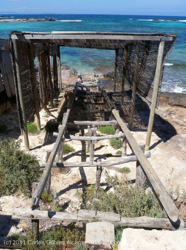 Formentera Rampa en embarcadero. Islas Baleares