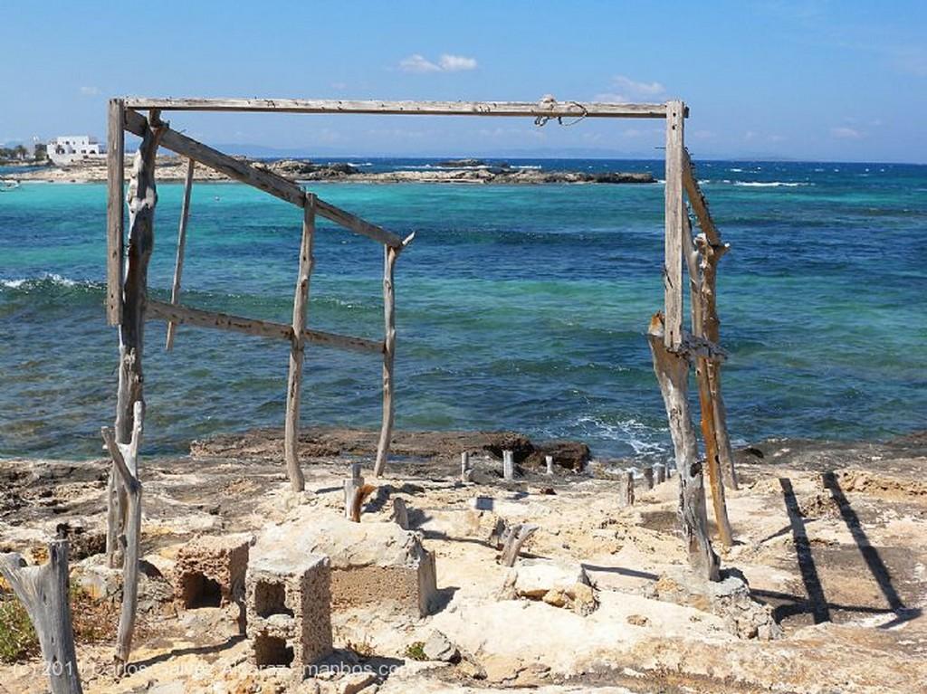 Formentera Embarcadero típico. Islas Baleares