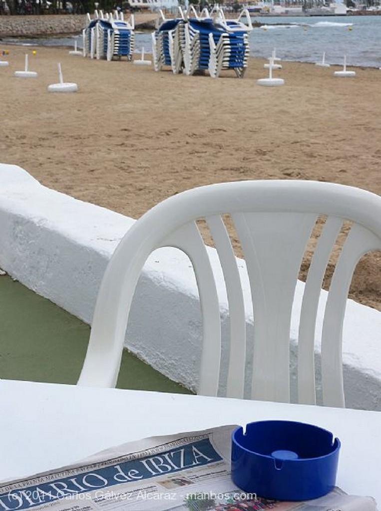 Ibiza Hamacas con palmera Islas Baleares