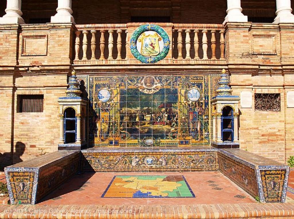 Sevilla Detalle en la Plaza de España. Sevilla