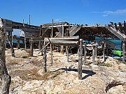 Típico puerto pesquero en Formentera, Formentera, España