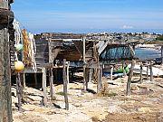 Típico embarcadero de Formentera, Formentera, España