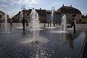 Plaza Mayor, Sibiu, Rumania