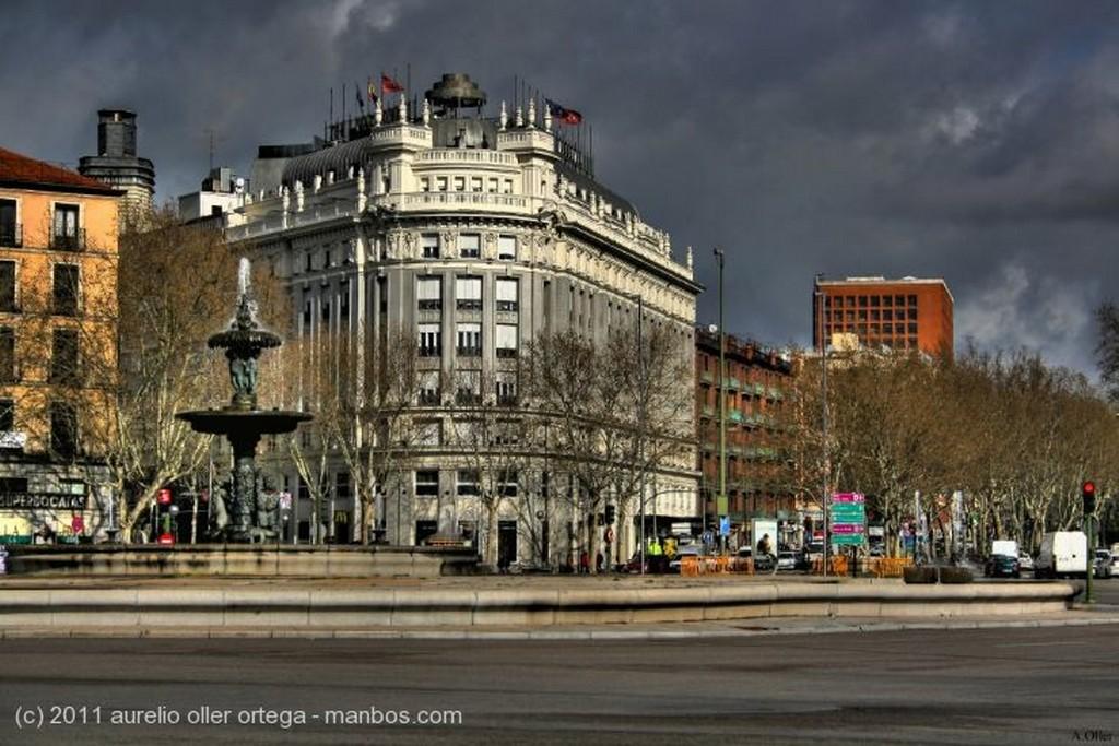 San Lorenzo de El Escorial Jardin de la Reina nevado Madrid