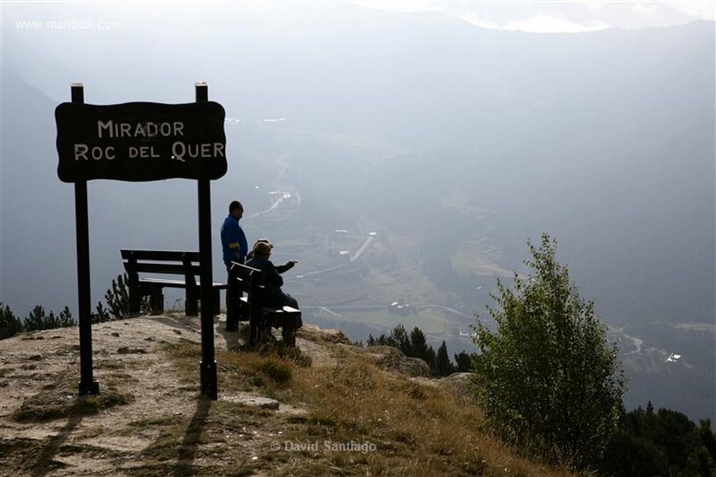 Andorra Mirador en la carretera de Ordino a Canillo Andorra