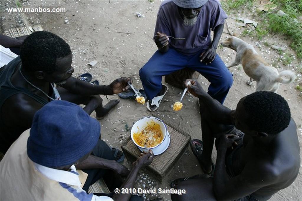 Islas Bijagos  Habitantes en Parque Nacional de Orango Poilao Bijagos Guinea Bissau  Islas Bijagos