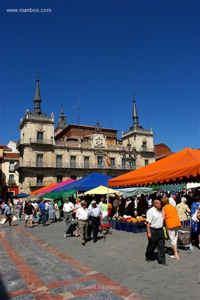 Leon Mercado en la Plaza Mayor de Leon Leon