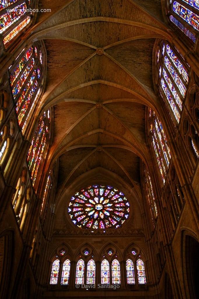 Leon Vidrieras en la Catedral de Leon Leon