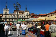 Mercado de la Plaza Mayor, Leon, España