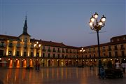 Plaza Mayor, Leon, España