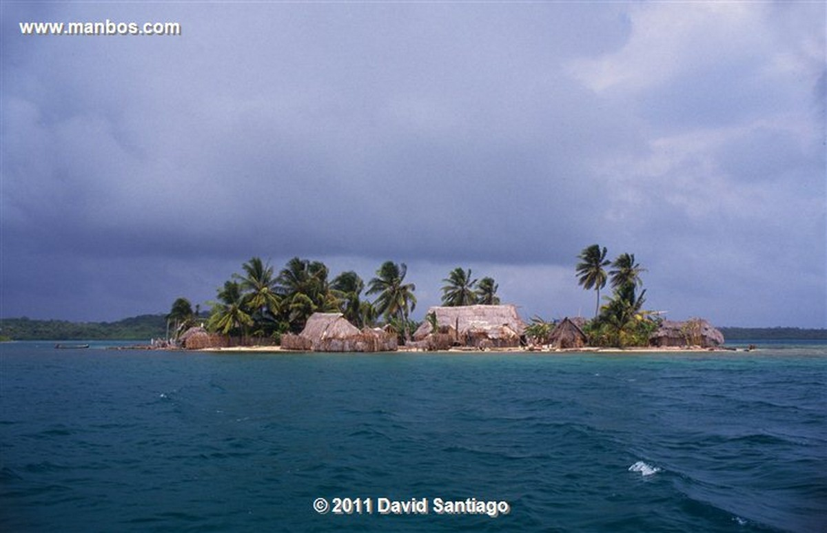 Panama Island In The San Blas Archipelago In The Kuna Yala Panama