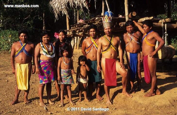 Panama Embera Indians In The Darien Province Panama