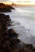 Foto de Santo Domingo, Republica Dominicana - Dawn In The Caribbean Sea Tropical Beach View Of The Crystalline Caribbean Sea Santo Domingo