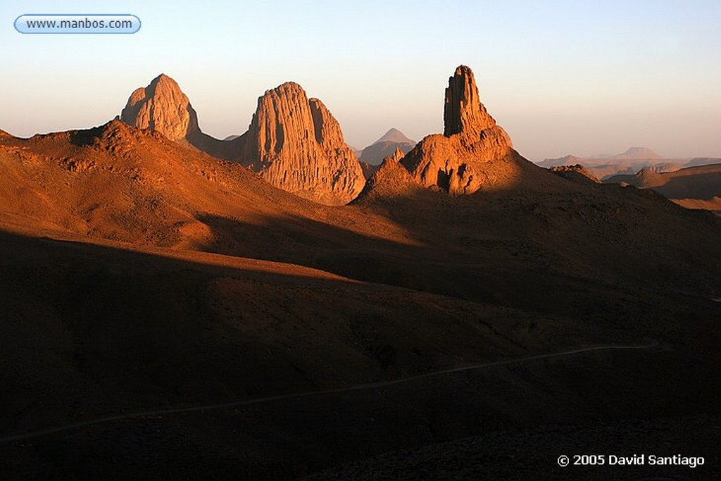 Parque Nacional del Ahaggar Macizo del Hoggar en el Parque Nacional del Ahaggar - Argelia Argelia