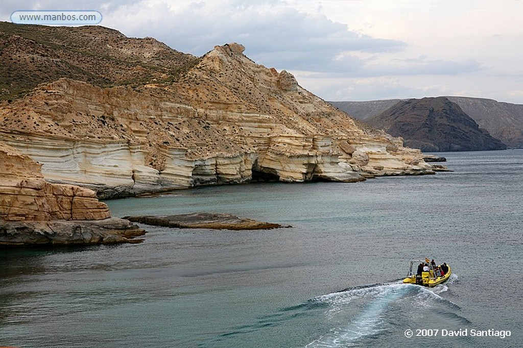 Cabo de Gata CALAS JUNTO AL CASTILLO DE SAN RAMON Almeria