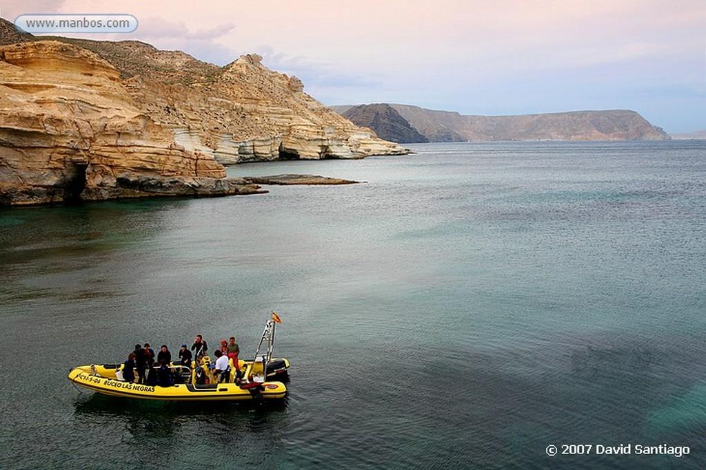 Cabo de Gata CASAS DE PESCADORES JUNTO AL CASTILLO DE SAN RAMON Almeria