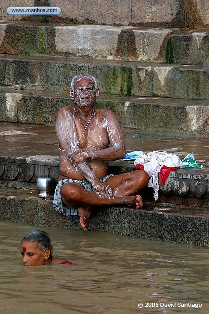 Varanasi Rio Ganges en Varanasi Varanasi