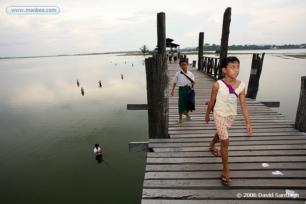 Lago Taungthaman Lago Taungthaman en Myanmar Lago Taungthaman